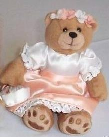 Sleek Flower Girl Bridal Bear