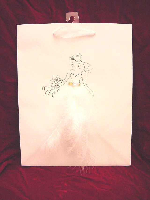 Feather Bride Gift Bag